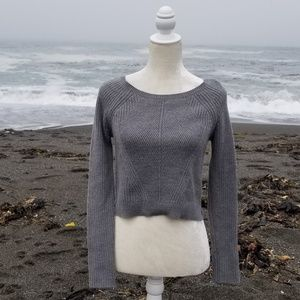 Express Cropped Textured Sweater